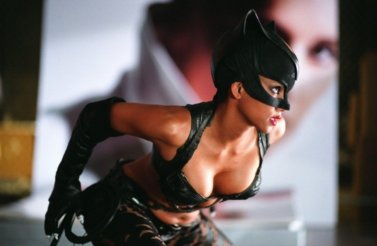 Halle Berry as catwoman looks ready to pounce