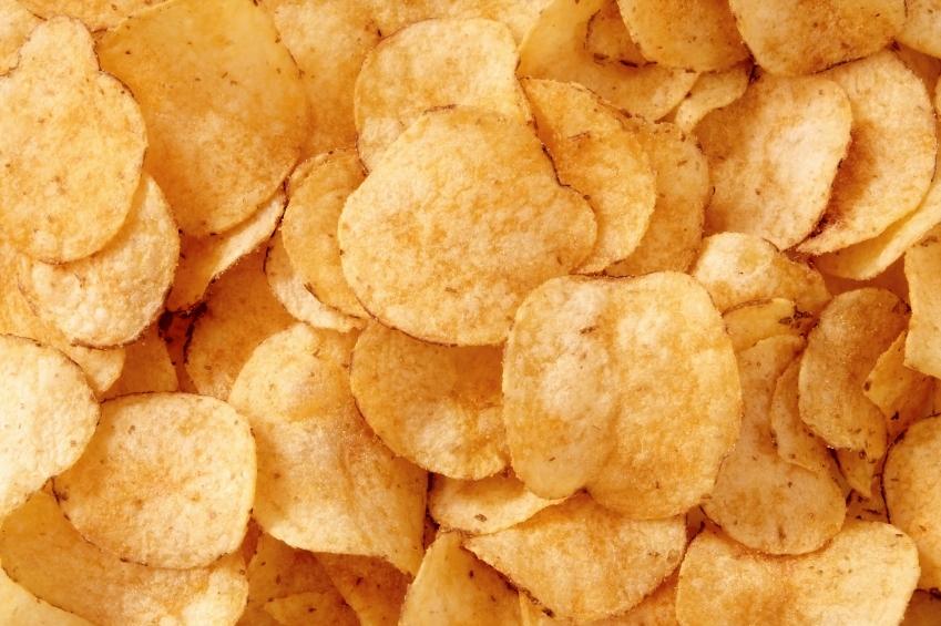 Potato chips, king of junk food