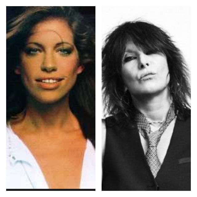 Chrissie Hynde and Carly Simon