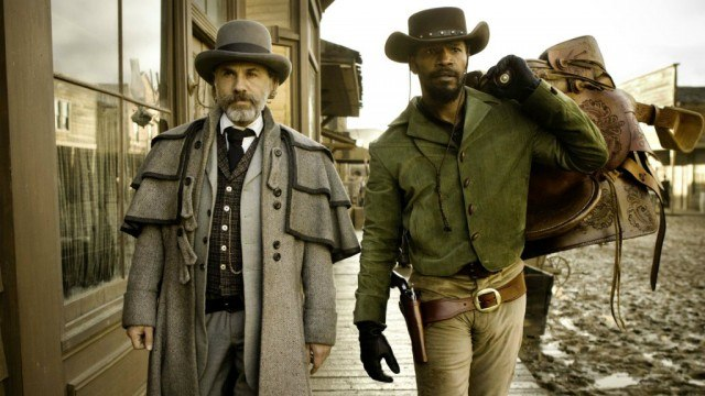 Christoph Waltz and Jamie Foxx in 'Django Unchained'