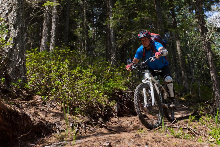 mountain bike, trail