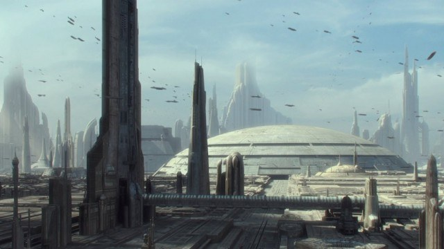 Coruscant in Attack of the Clones