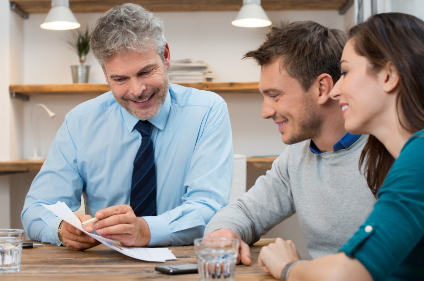 couple meeting with financial planner