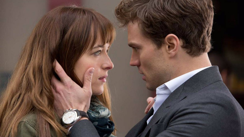 Dakota Johnson and Jamie Dornan in 'Fifty Shades of Grey'