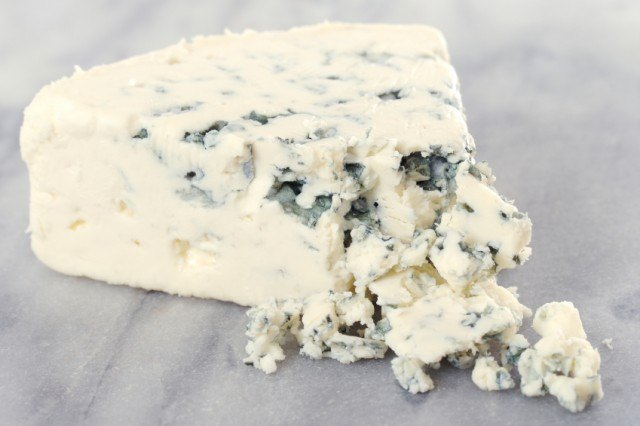 Close up of blue cheese