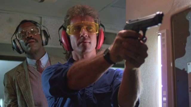 Danny Glover and Mel Gibson in Lethal Weapon