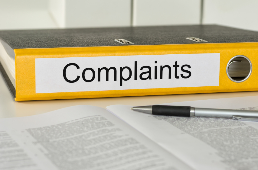 Complaints notebook