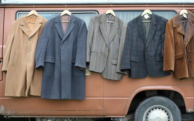 Suits drying outdoors
