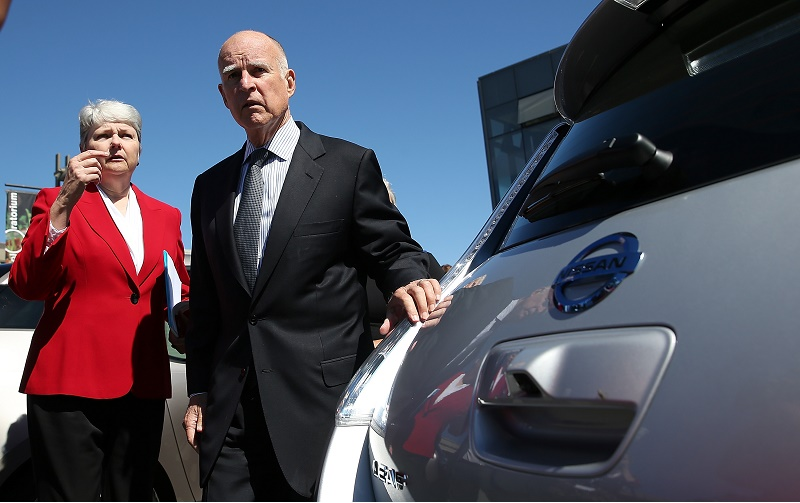 California Gov. Brown Holds Press Conf. On Expansion Of Electric Vehicle Market