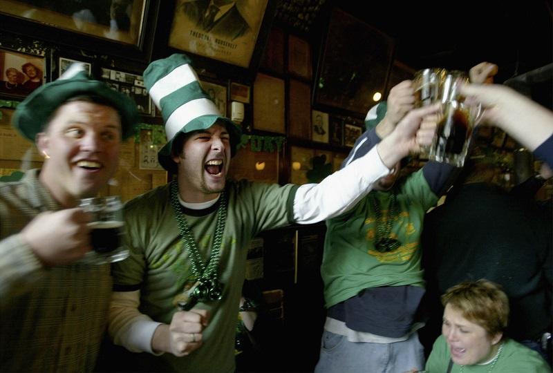 People celebrate St. Patrick's Day