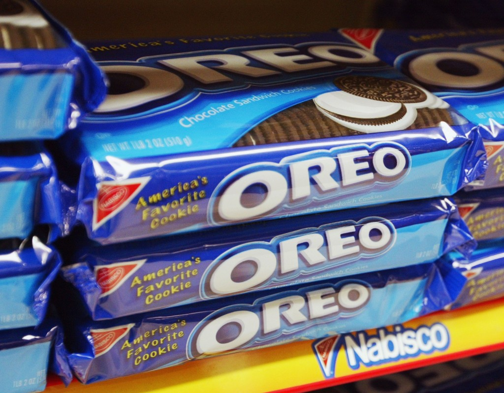package of oreo cookies on a shelf