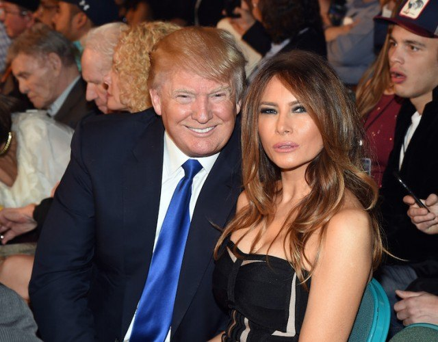 Donald Trump and Melania seated next to each other