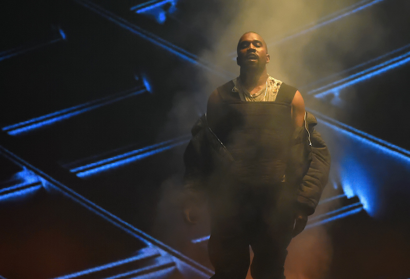 Kanye West at a performance