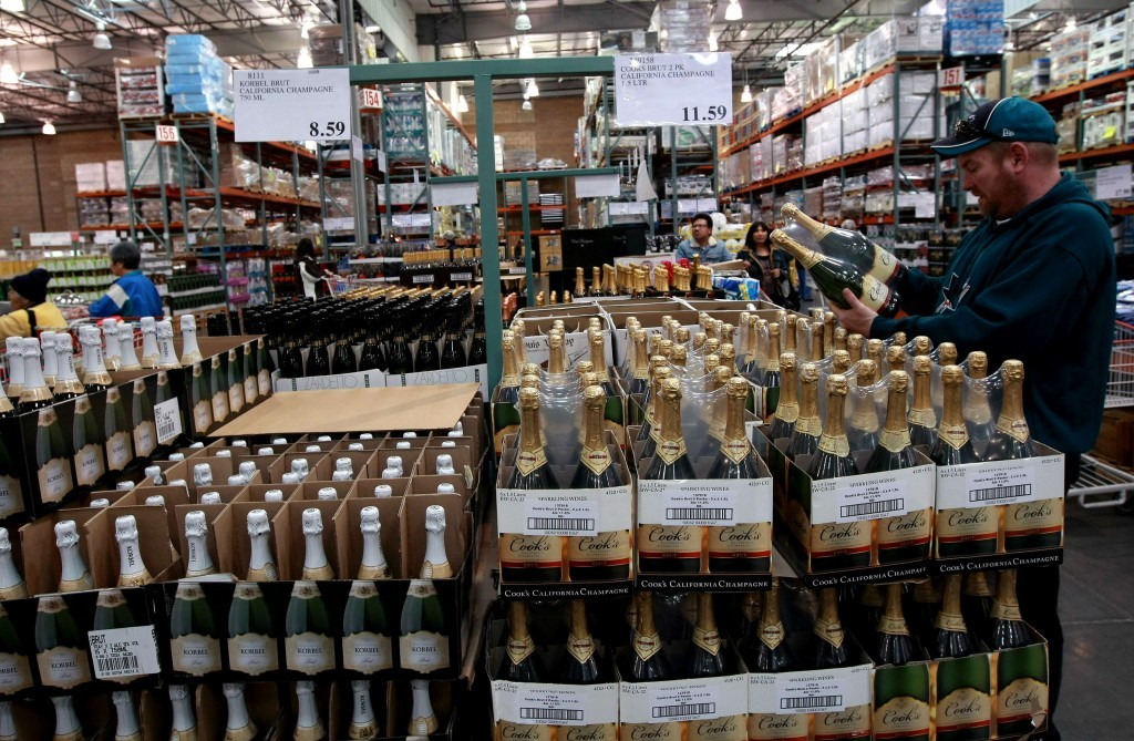 bottles of champagne at costco