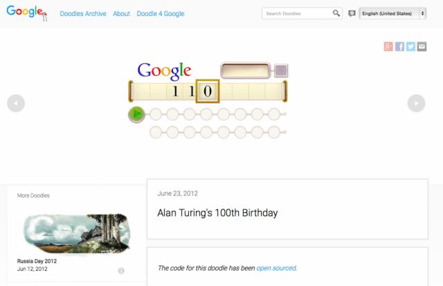 Google Search 'I'm feeling doodley'