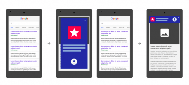 Google policy on app install interstitial ads