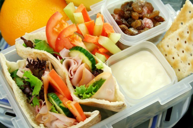 lunch box filled with healthy foods