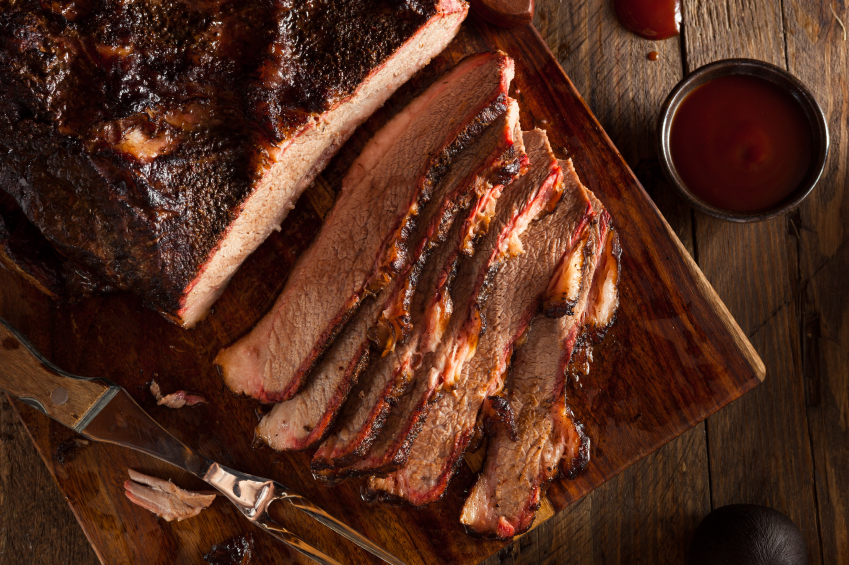 barbecue smoked brisket