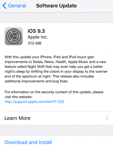 How to update an iPhone -- software update for iOS