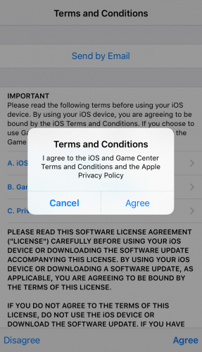 How to install an iPhone update -- agree to terms and conditions to download a software update