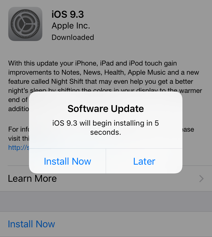 How to update your iPhone -- install a software update