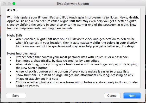 How to update your iPhone via iTunes -- iOS 9.3 update