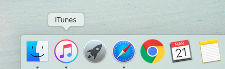 How to update an iPhone with iTunes -- iTunes icon on Mac