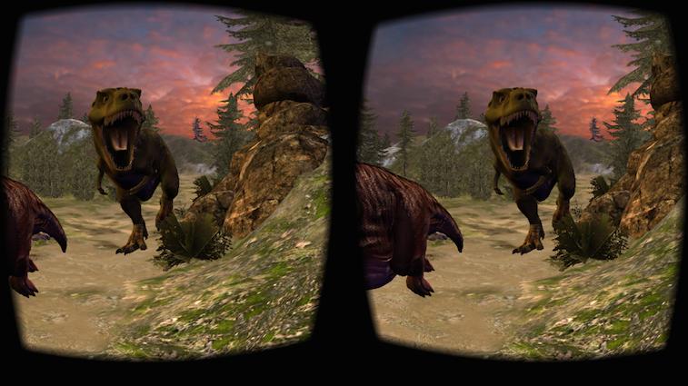 Virtual reality dinosaurs