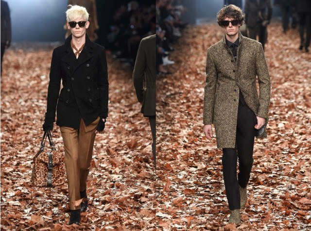 John Varvatos Fall 2015 Runway style animal print