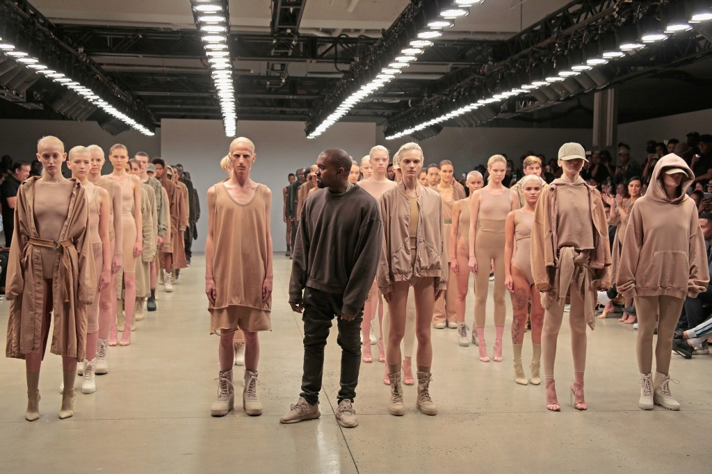 Kanye West and models for his show