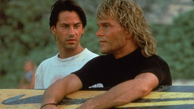 Keanu Reeves and Patrick Swayze in Point Break