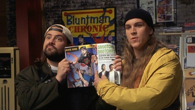 Kevin Smith and Jason Mewes in 'Jay and Silent Bob Strike Back'