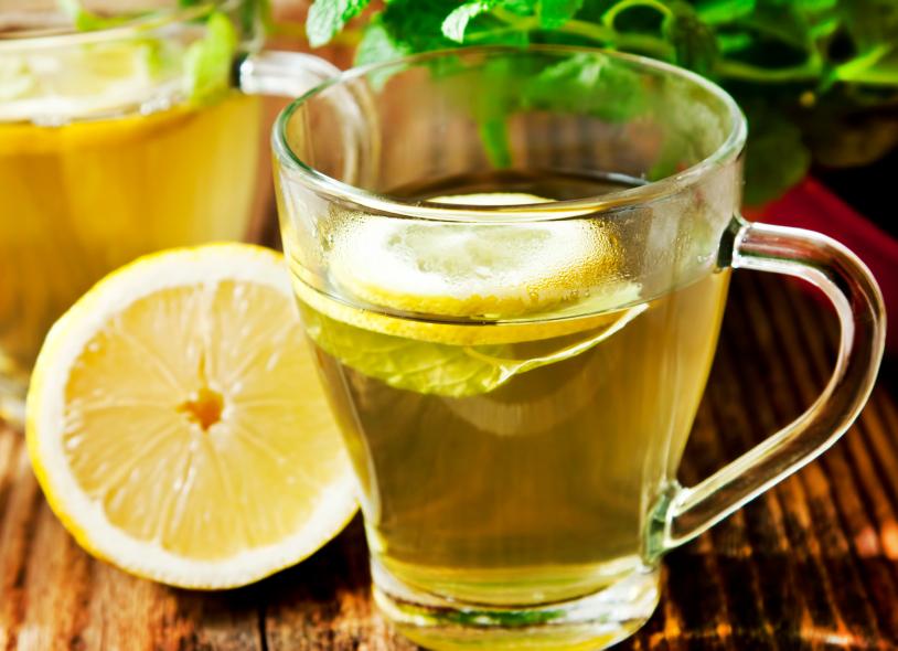 herbal tea with lemon