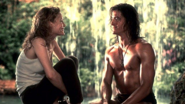 Leslie Mann and Brendan Fraser in George of the Jungle
