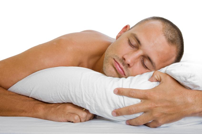 Man sleeping on his stomach