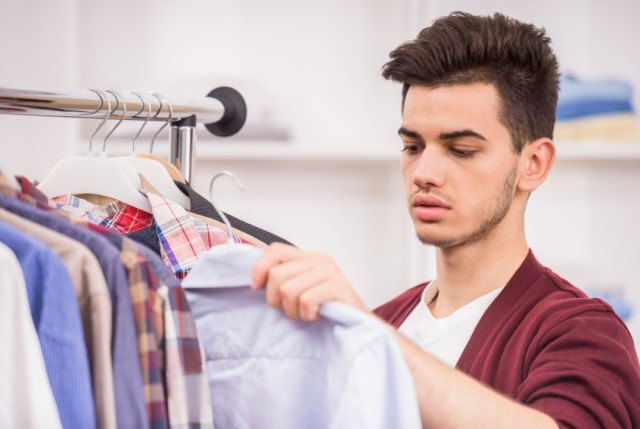 Man choosing a shirt