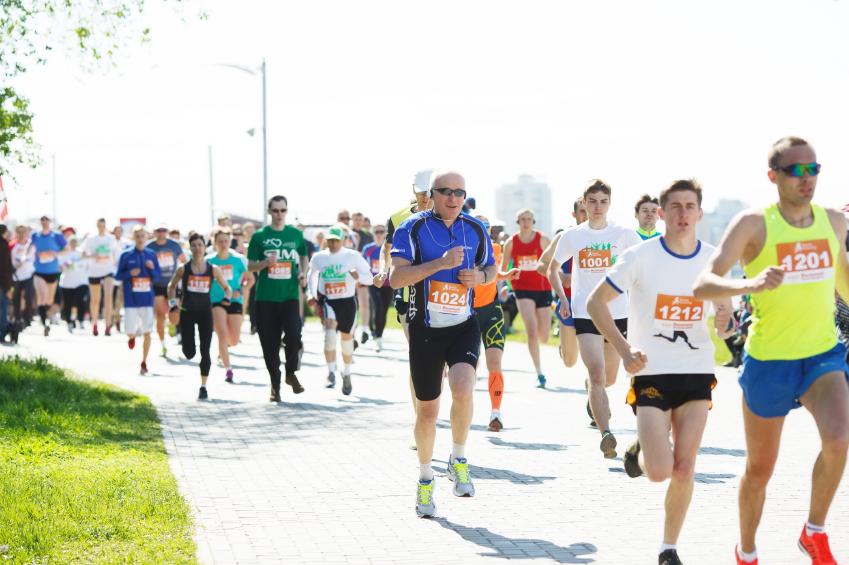 Runners in a race