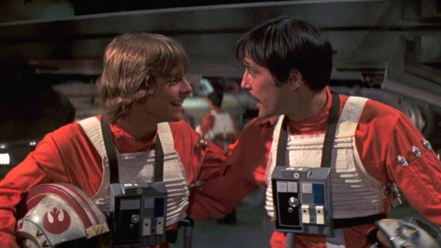 Mark Hamill and Garrick Hagon in Star Wars: A New Hope