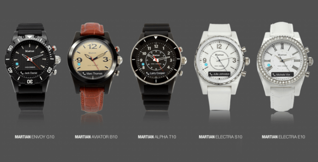 Martian Voice Command collection smartwatches