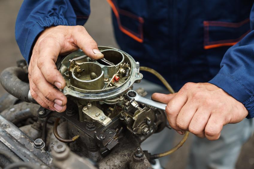A mechanic doing a solid job
