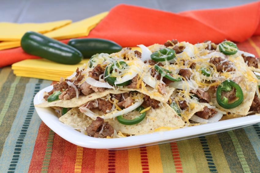nachos, tortilla chips