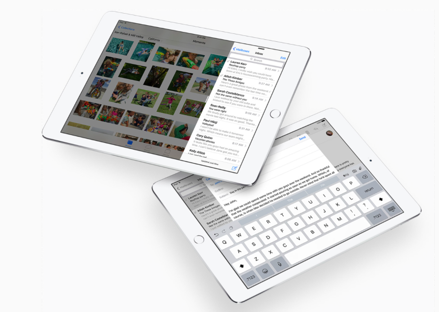 Multitasking features in iOS 9 on iPad