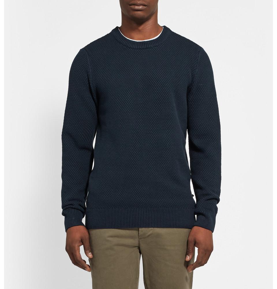 NN. 07 seed stitch cotton crewneck sweater