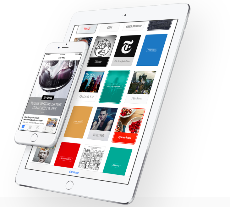 News app in iOS 9 on iPhone and iPad