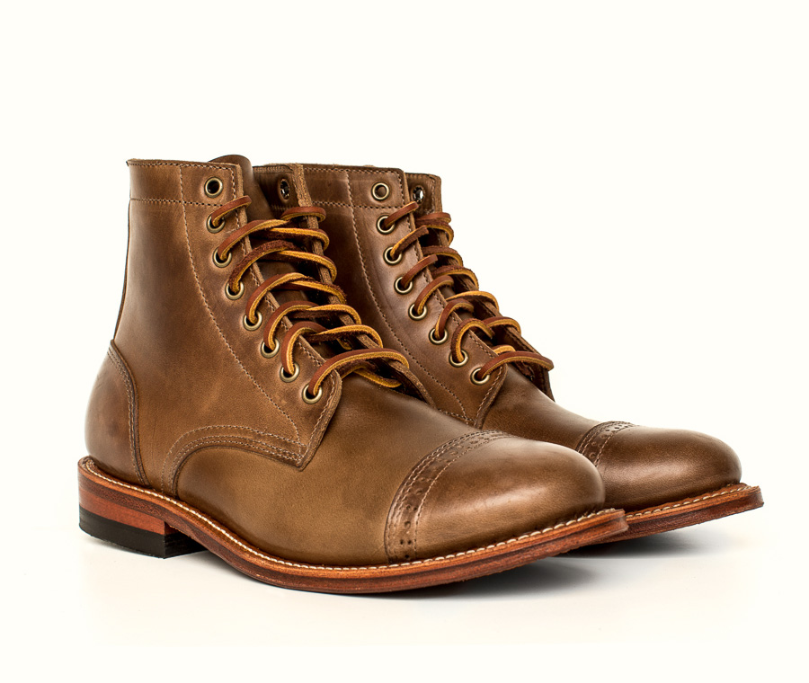 Oak Street Bootmakers trench boot in natural Chromexcel