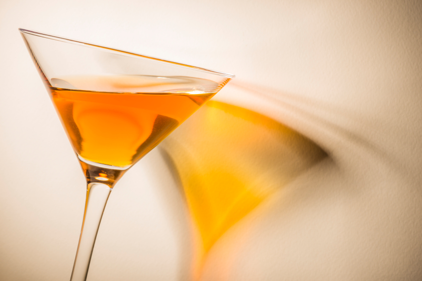 cocktail, orange martini