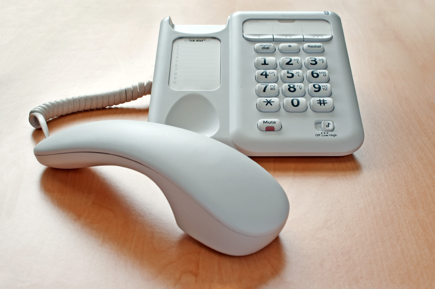 Phone on Desk On Hold
