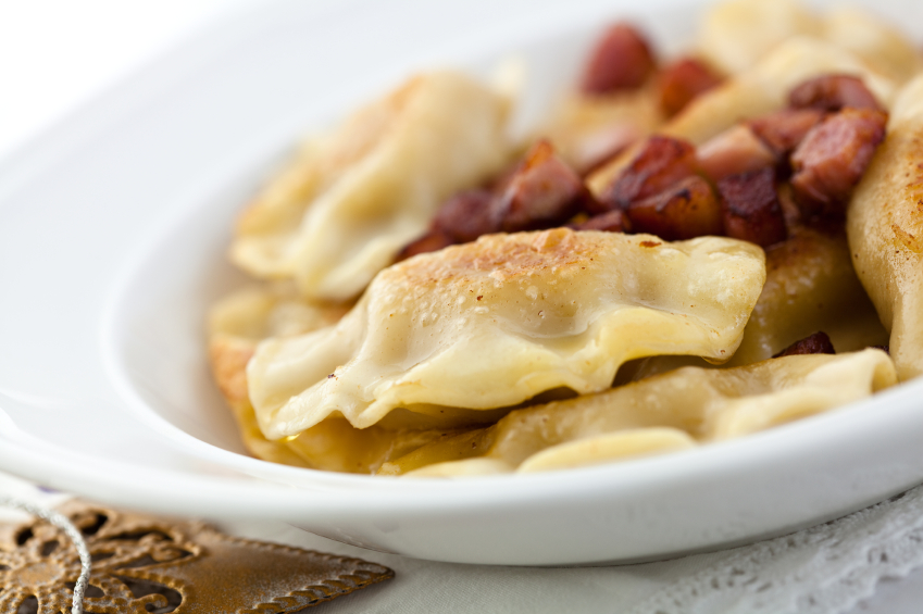 Pirogi and sausage