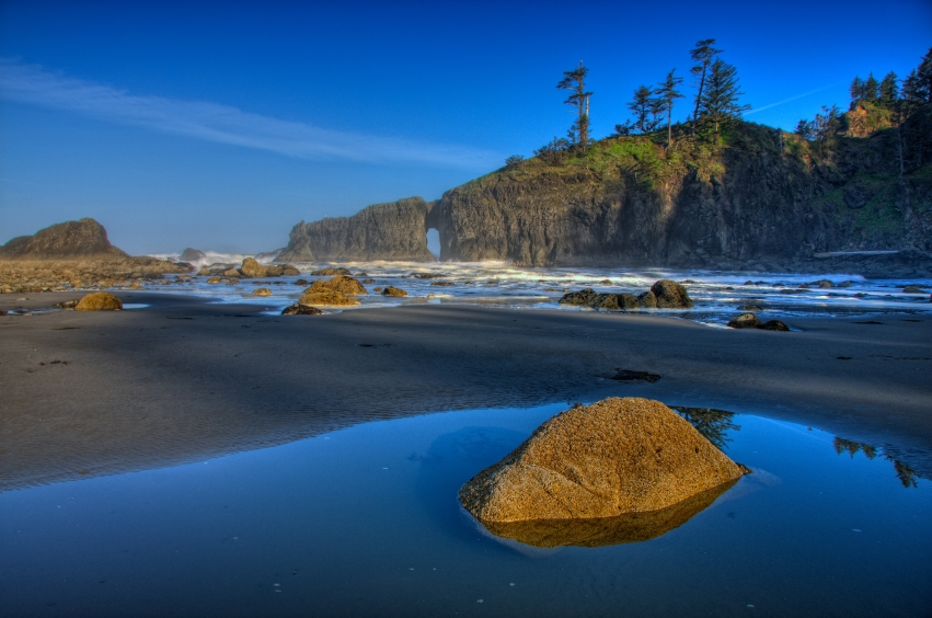 A Washington beach
