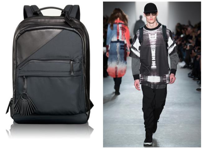 Public School + Tumi backpack runway style